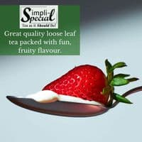 Strawberries and Cream Flavour Black Loose Leaf Tea in Assorted Packs